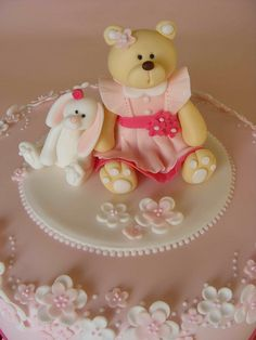 Bear and bunny fondant topper.