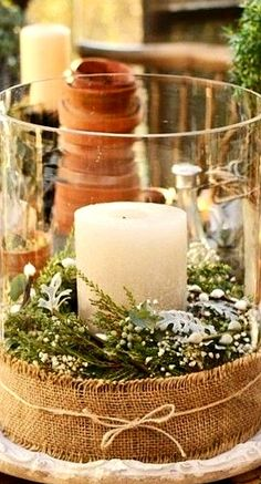 outdoor candle....