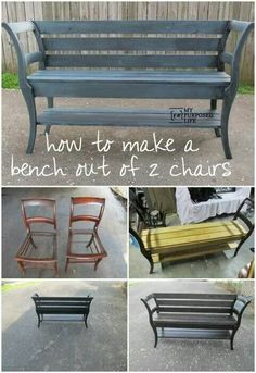 2 chairs=1 bench
