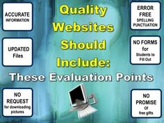 What qualities should a website have, to deserve been linked with