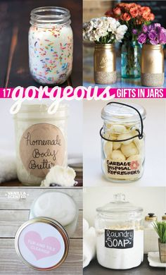 17 Gorgeous Gifts in Jars. Something for every season, every occasion, and every home!