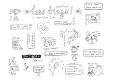 Lees bingo! getekend door Annemieke Bouwman, Goed voor de leesmotiviatie! (bijvoorbeeld in de zomervakantie)