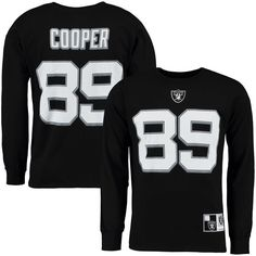 Amari Cooper Oakland Raiders Eligible Receiver II Name and Number Long  Sleeve T-Shirt - Black 3cb0975cb95
