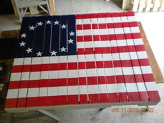 Wood Pallet American Flag Wood Pallet Table Top by AntiqueShabby