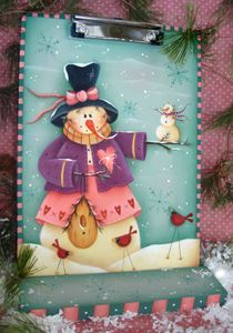 "Cute E-Pattern by Renee Mullins of ""Plum Purdy Designs . Christmas Snowman, Winter Christmas, Christmas Ornaments, Tole Painting Patterns, Frosty The Snowmen, Country Paintings, Christmas Paintings, Snowman Crafts, Country Crafts"