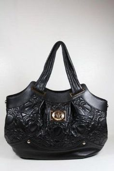 58d24d44ad7f7e Versace Handbags Black Leather DBFB7733 Unique Handbags, Cute Handbags,  Cheap Handbags, Beautiful Handbags