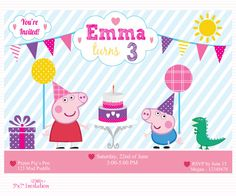 Customized Peppa Pig Digital Printable Birthday Baby by Chesilou, $8.00