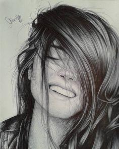 Pencil Abstract Portrait Art