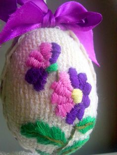 Vintage Easter Egg in purple by EdlabShop on Etsy