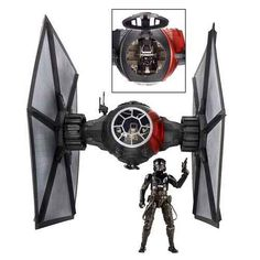 Black Series 6inch Tie Fighter with Pilot