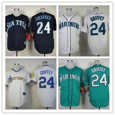 Ken Griffey Jr Jersey Seattle Mariners Throwback Jerseys   24 Size M~ 3XL  Baseball Jerseys 9b9808259