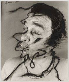 Untitled Arnulf Rainer (Austrian, born 1929) (1969-74). Oilstick on gelatin silver print