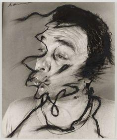 Untitled  Arnulf Rainer (Austrian, born 1929)    (1969-74). Oilstick on gelatin silver print