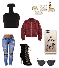 """A day out ✌🏼️"" by tayhanie on Polyvore featuring Topshop and Casetify"