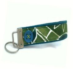 Key Fob   Bamboo and Buttons Key Fob by gloriajeanDesigns on Etsy, $9.50 #jenbnr