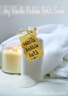 diy bath soak recipe from simple ingredients.  Could substitute plain Dr Bronners for the baby wash.