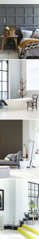 Grey tones on the wall! Photos © Little Greene