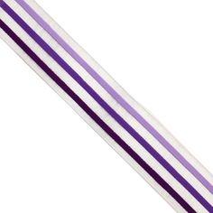 "5 yards 1"" WIDE 25mm Stripe Printed Sheer Organza Ribbon ORP03410"