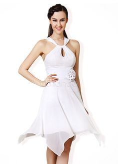 A-line Cut Out White