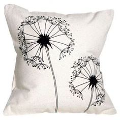 Cute screen print accent pillow