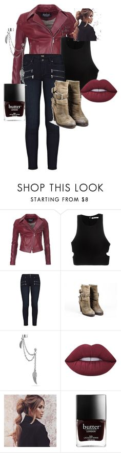 """""""Untitled #1"""" by jdev4 ❤ liked on Polyvore featuring Barbour International, T By Alexander Wang, Paige Denim, Ash, Bling Jewelry and Lime Crime"""
