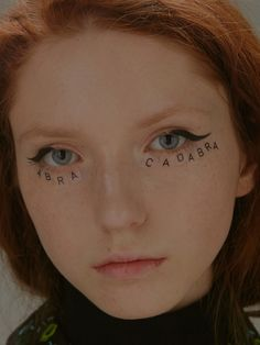 typographic stickers, make-up