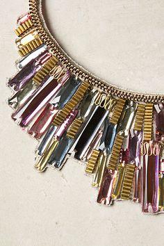 Metropolis Bib Necklace by artist/designer Alexandra Abraham, now at Anthropologie