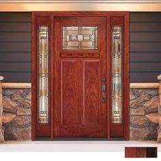 Craftsman - Front Doors - Exterior Doors - The Home Depot Craftsman Style Front Doors, Craftsman Door, Craftsman Exterior, House Paint Exterior, House Front Door, Glass Front Door, Front Door Decor, Front Porch, Front Entry