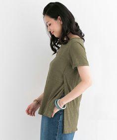 URBAN RESEARCH ROSSO(アーバンリサーチロッソ)のROSSO サイドスリットTシャツ(Tシャツ/カットソー) 詳細画像