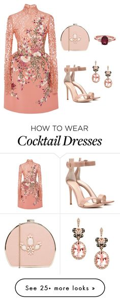 """Blush Blossoms"" by mariah-a-1 on Polyvore featuring Georges Hobeika, Gianvito Rossi, Johnny Loves Rosie and Effy Jewelry"