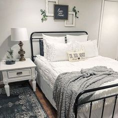 This master bedroom looks beautiful with this nightstand in Dixie Belle Paint color Fluff! Every modern farmhouse needs a warm and cozy white bedroom.  ( @diapersanddecor)  •  •  •  •  #dixiebellepaint #paintedfurniture #bestpaintonplanetearth #chalklife #doityourself #diy #diyhomedecor #homedecor #instahome #designinspo #homedesign #chalkmineralpaint #chalkpainted #chalkpaint #diyproject #tutorial #easypeasypaint #makingoldnew #whybuynew #justpainting #musthave #