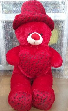 Teddybear Happy Teddy Day Images, Happy Teddy Bear Day, Cute Teddy Bear Pics, Red Teddy Bear, Valentines Day Teddy Bear, Teddy Bear Images, Large Teddy Bear, Big Teddy, Teddy Bear Pictures