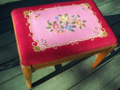 Antique Needlepoint Tapestry 1960's by sistersvintageattic on Etsy