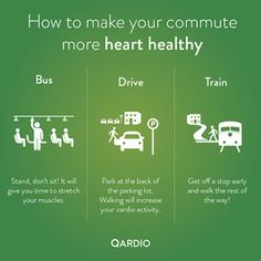 128.3 million people commute to work every day.   You might work too far from home to bike or walk to work, but there are still ways to make your commute healthier.  YOUR HEALTH - Community - Google+