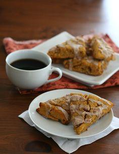 Healthy Pumpkin Scones With Cinnamon Glaze - gluten-free, sugar-free, grain-free. Yay for pumpkin!