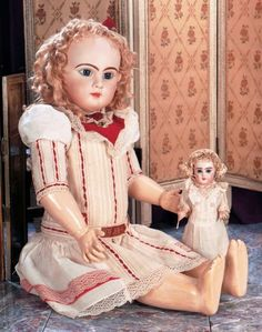 Scenes from the Court: 28 French Bisque Bebe Jumeau,Size 16,with Original Costume and Box