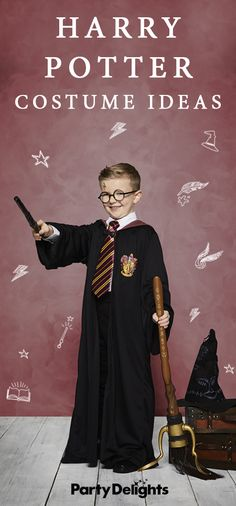 If you're looking for World Book Day costume ideas for a child who is potty about Potter, you're in the right place. Read our round-up of Harry Potter costume ideas to find out how to dress up as all the best characters from the books. All the costumes featured in this post are available at partydelights.co.uk. Children's Book Characters Costumes, Book Characters Dress Up, Character Dress Up, World Book Day Costumes, Book Week Costume, Teaching Kids Respect, World Book Day Ideas, Black And White People, Harry Potter Cosplay
