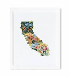 Inspired by the wildflowers of California, our new archival print was created from an original illustration by Anna Bond. Made in USA. California Wildflowers, Valentines Day Greetings, Rifle Paper Co, Heart Art, State Art, Anna Bond, Custom Framing, Framed Art Prints, Wild Flowers