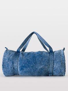 07c587bd2a4 Mineral Wash Natural Denim Gym Bag.  AmericanApparel Denim Bag, Denim  Jeans, Travel