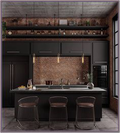 Decorating Ideas For Kitchen Walls is categorically important for your home. Whether you pick the Decor Top Of Kitchen Cabinets or Color Ideas For Kitchen Walls, you will create the best Kitchen Wall Decor Ideas for your own life. Industrial Kitchen Design, Industrial Interiors, Industrial House, Modern Industrial, Industrial Kitchens, Industrial Lighting, Modern Lighting, Outdoor Lighting, Black Kitchen Cabinets