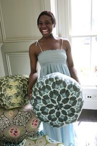 Gum Drop Pillows :: (Make your own Pouf) DIY :: Easy to make, yet dramatic in style. Large, comfy and cool pillows and even larger ottoman sizes. Eye candy for your home!