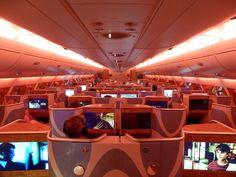 Emirates Airbus A380 Business Class Dubai to Sydney