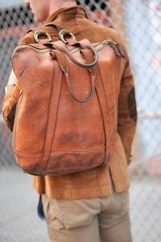 #Leather #Mens bag