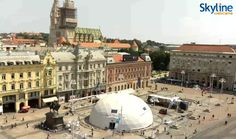 Live Cam in Ban Jelačić Square in Zagreb. Watch this live cam by visiting our web site!
