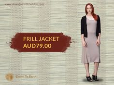 Look extremely fashionable with this frill jacket from Down to Earth Fashion. Grab one now! Call Us On: (02) 8005 2644 - downtoearthfashion.com  #BambooFrillJacket #EthicallyManufactured #SustainableClothes #OrganicBamboo #NaturalOrganicBamboo #FairTrade