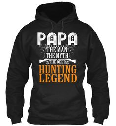 Papa Hunting Hoodies!Limited Edition. Black Sweatshirt Front