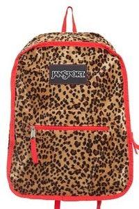 Jansport Inner Beast Reversible Backpack - Red Polka Dot/Leopard