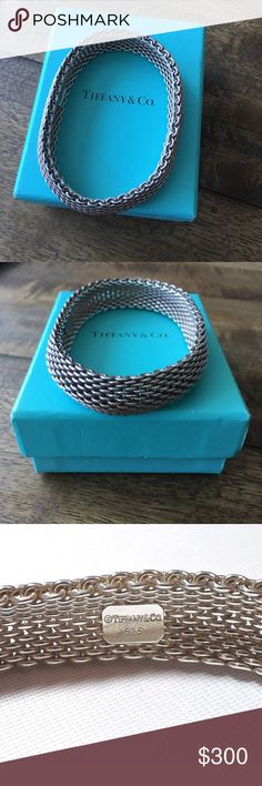 Authentic Tiffany& Co.  925 Sterling Silver Bangle AUTHENTIC. Box included. Silver 925 Somerset Bangle by Tiffany & Co. Tiffany & Co. Jewelry Bracelets