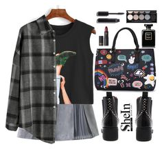 """""""School rebel"""" by gabygirafe ❤ liked on Polyvore featuring Witchery, Chanel, Lipstick Queen, Sheinside and shein"""