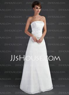 Wedding Dresses - $161.99 - A-Line/Princess Strapless Floor-Length Taffeta Wedding Dress With Ruffle Beadwork (002001666) http://jjshouse.com/A-Line-Princess-Strapless-Floor-Length-Taffeta-Wedding-Dress-With-Ruffle-Beadwork-002001666-g1666